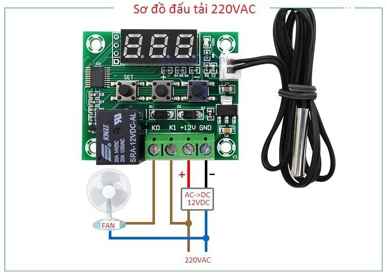 Module Relay 12V Điều Khiển Đóng Cắt Bằng Cảm Biến Nhiệt Độ - MẠCH ẤP TRỨNG