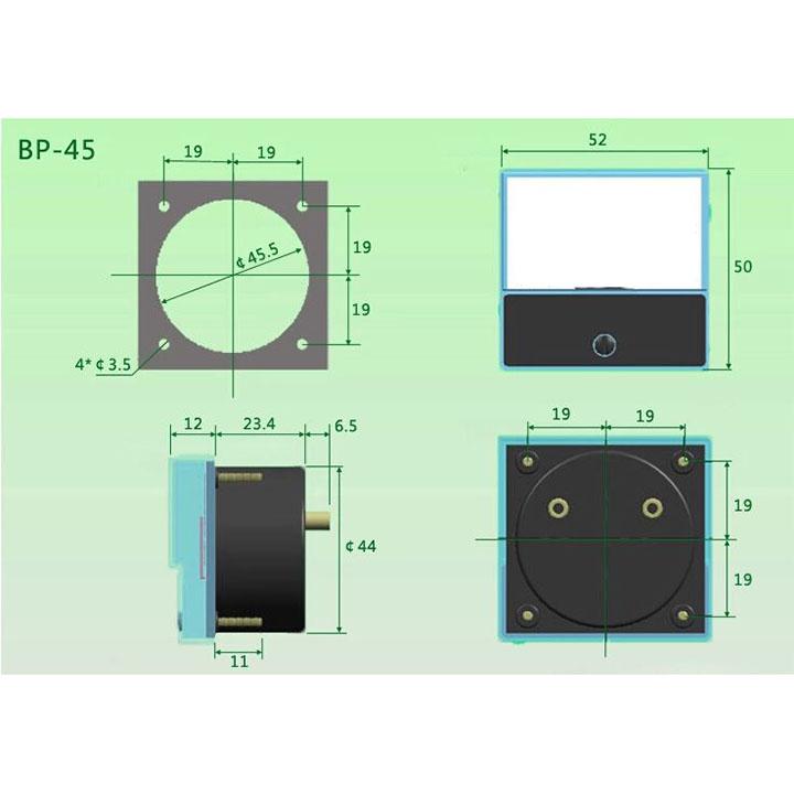 Đồng Hồ Đo Dòng Điện Ample 50A 52x50mm