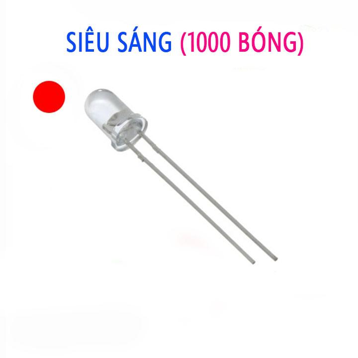 Led siêu sáng  3mm gói 1000 bóng
