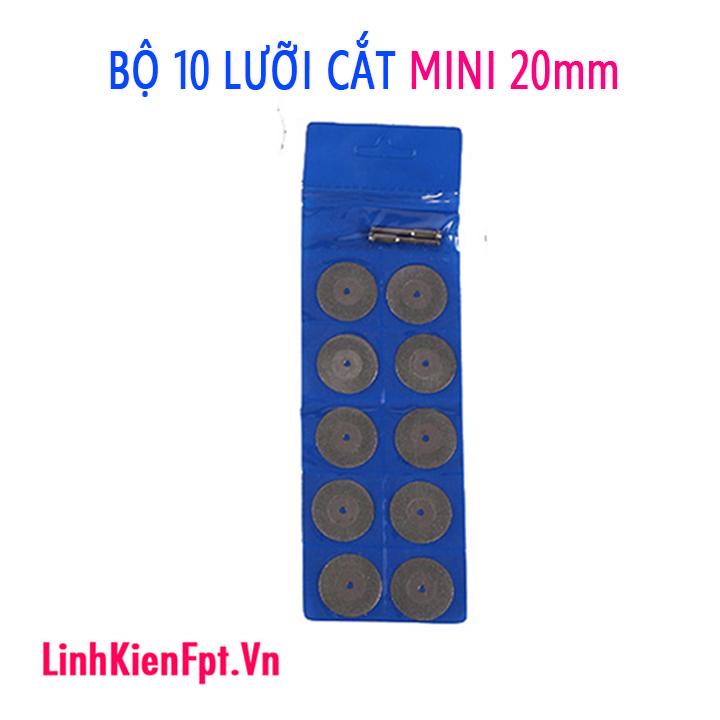 Bộ 10 lưỡi cắt kim cương mini 20mm