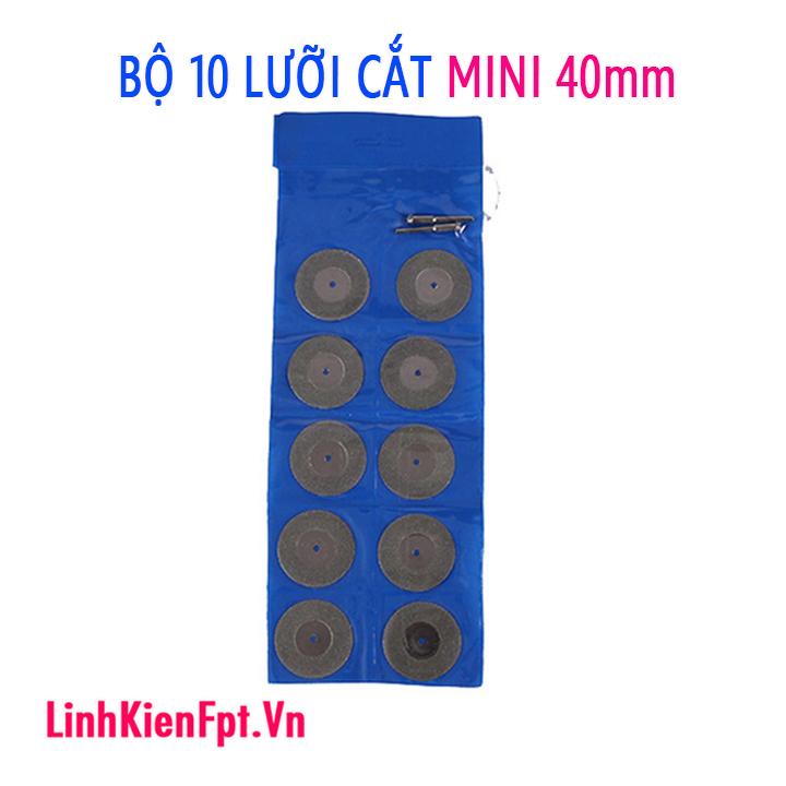 Bộ 10 lưỡi cắt kim cương mini 40mm