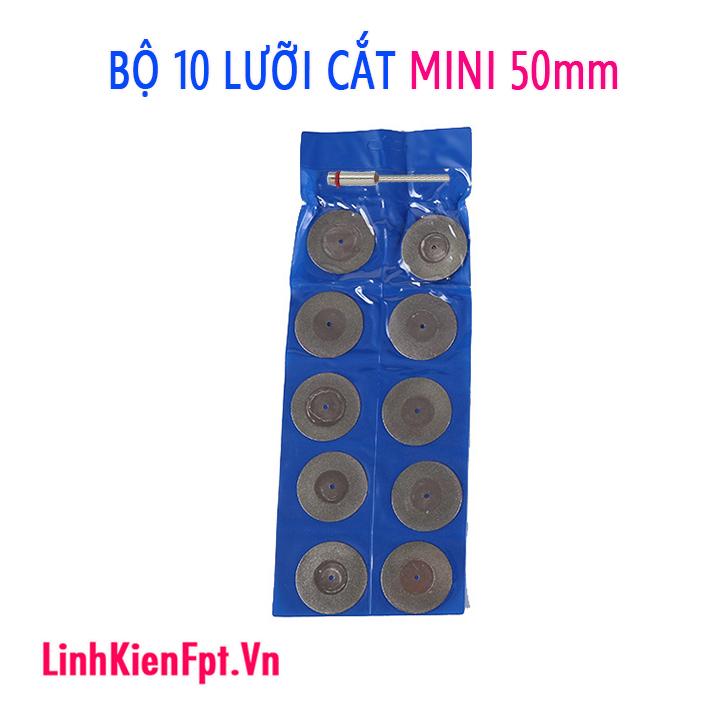 Bộ 10 lưỡi cắt kim cương mini 50mm