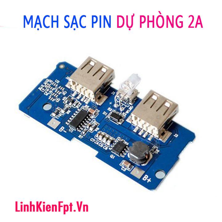 Mạch Sạc Pin Dự Phòng 2 Cổng USB 18650 5V 2A