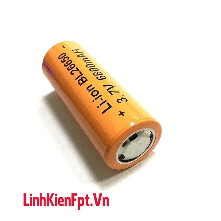 Pin Lithium 3.7V 26650 Dung Lượng Cao 6800mAh