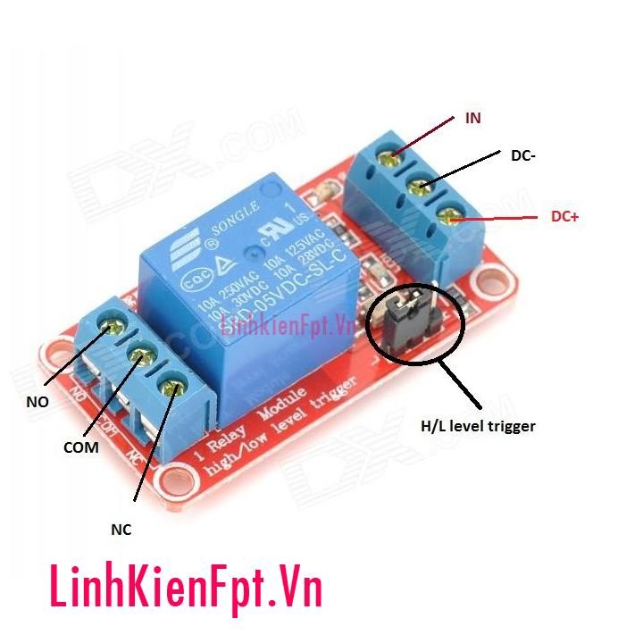 Module Relay 5VDC 1/2/4 Kênh High / Low