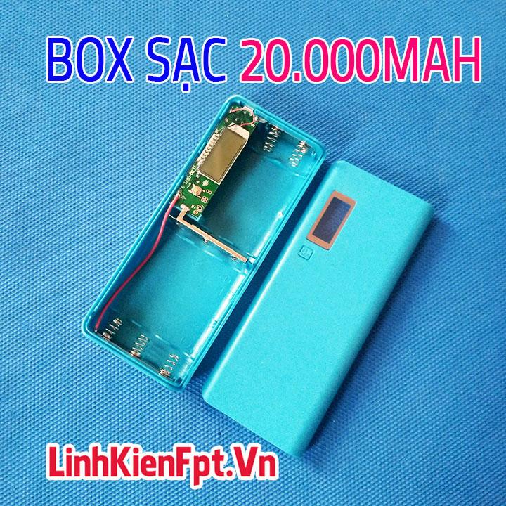 Box Sạc Dự Phòng LCD 5Cell 20000Mah Xanh