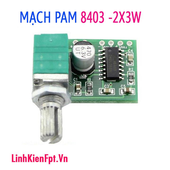 Mạch khuếch đại âm thanh 5V Pam8403