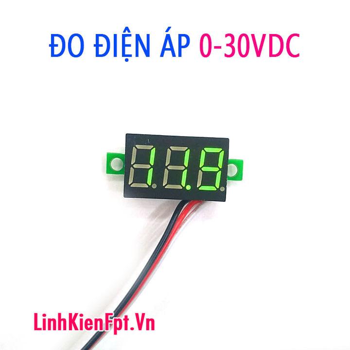 Đồng hồ đo điện áp 0-30VDC