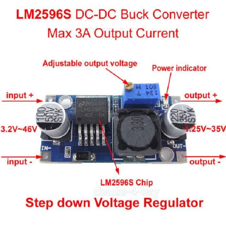 Mạch Hạ Áp LM2596 Điện Áp 3- 35V
