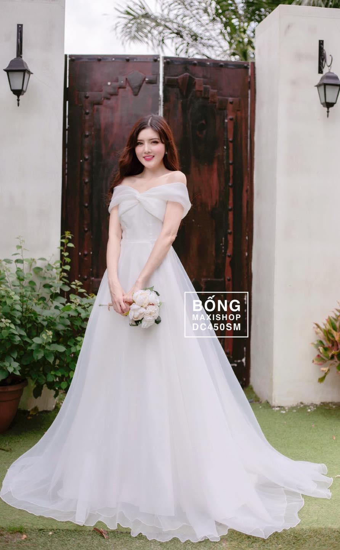 Đầm cưới đơn giản tại Bống maxi