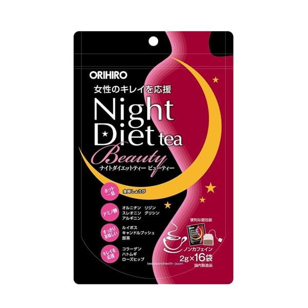 TRÀ GIẢM CÂN ĐẸP DA ORIHIRO NIGHT DIET TEA BEAUTY