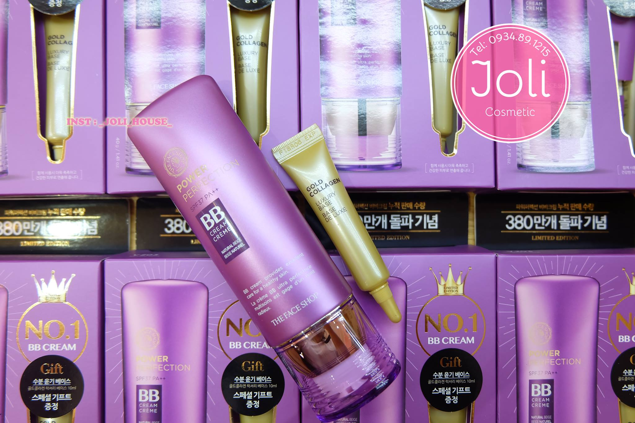 BỘ KEM NỀN + KEM LÓT POWER PERFECTION BB CREAM SET THE FACE SHOP