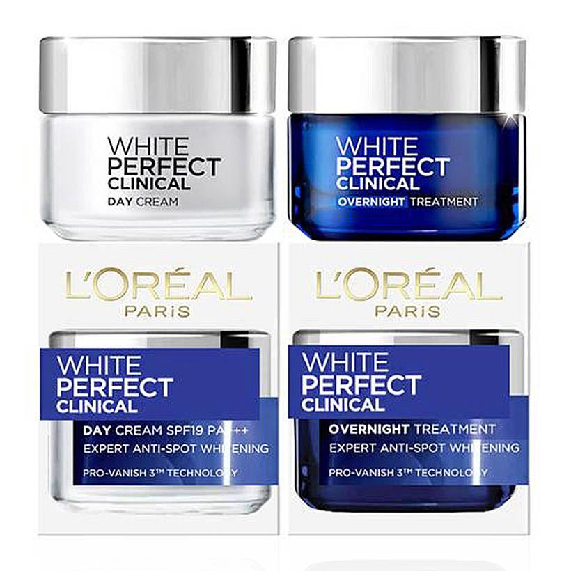 BỘ KEM DƯỠNG DA TRẮNG MỊN NGÀY & ĐÊM WHITE PERFECT CLINICAL L'OREAL