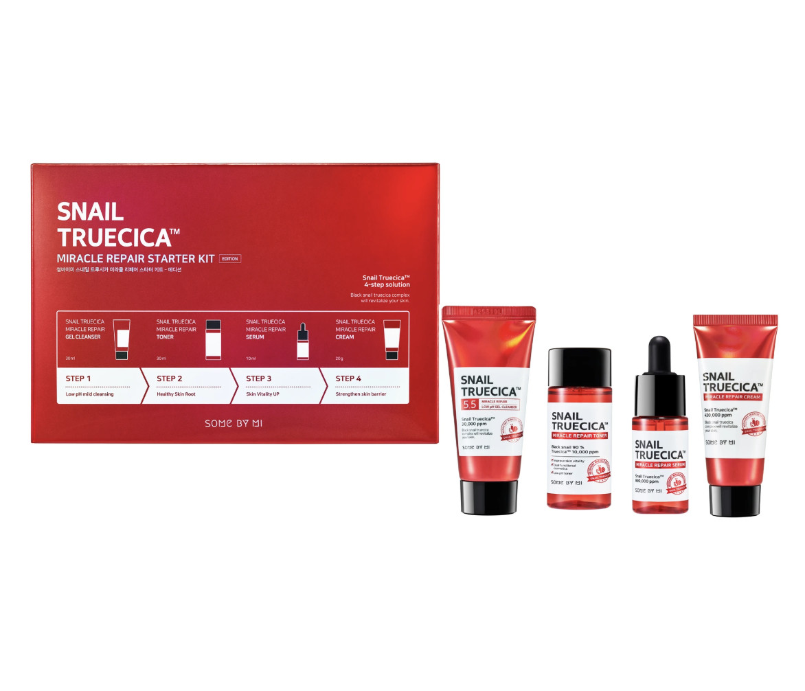 [SET 4 ITEMS] BỘ DƯỠNG TÁI TẠO DA SOME BY MI SNAIL TRUECICA MIRACLE REPAIR STARTER KIT