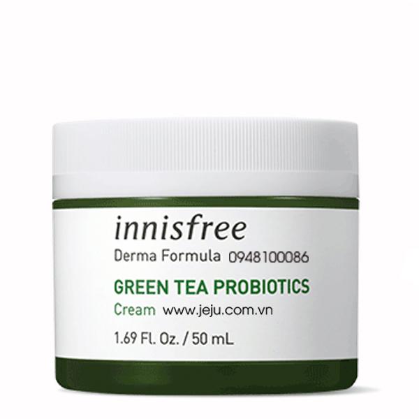 KEM DƯỠNG PHỤC HỒI DA INNISFREE DERMA FORMULA GREEN TEA PROBIOTICS CREAM