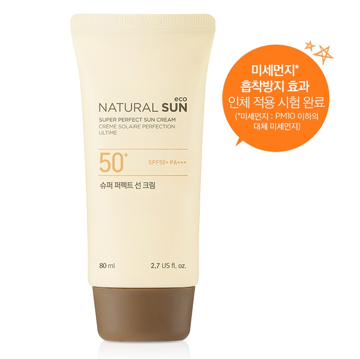KEM CHỐNG NẮNG THE FACE SHOP NATURAL SUN ECO SUPER PERFECT SUN CREAM