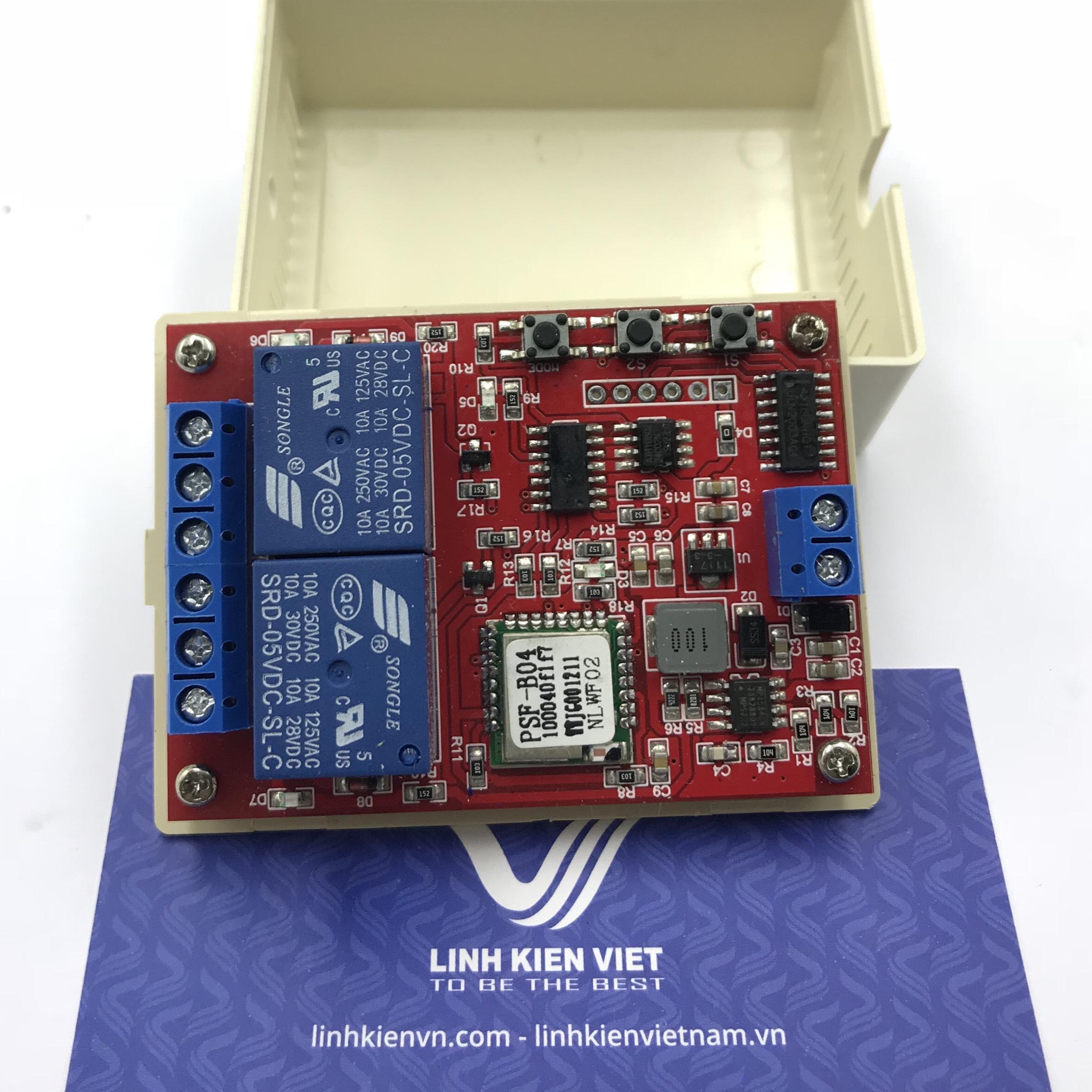 Module relay Wifi 2 kênh 12VDC - phần mềm Ewelink  / Điều khiển thiết bị qua wifi 2 kênh