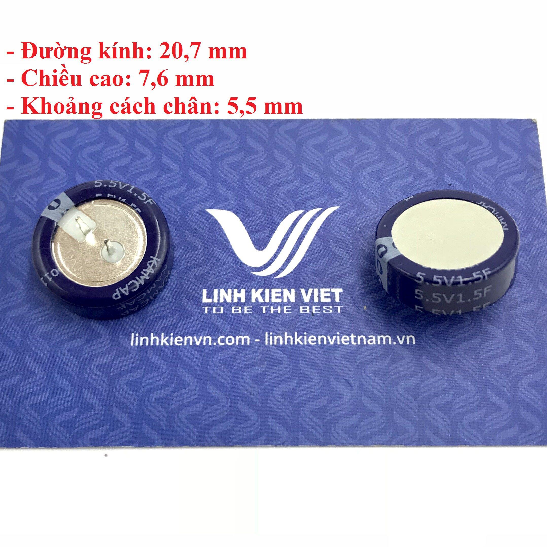 Siêu tụ điện 1.5F 5.5V - X4H9