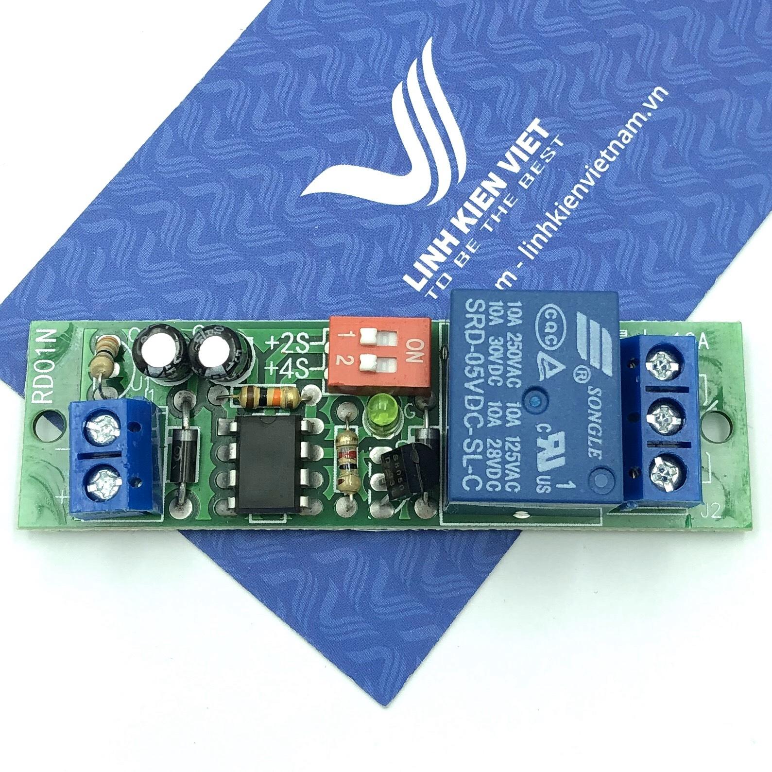 Mạch tạo trễ thời gian 12V RD01N cho máy tính, tủ lạnh - D2H25