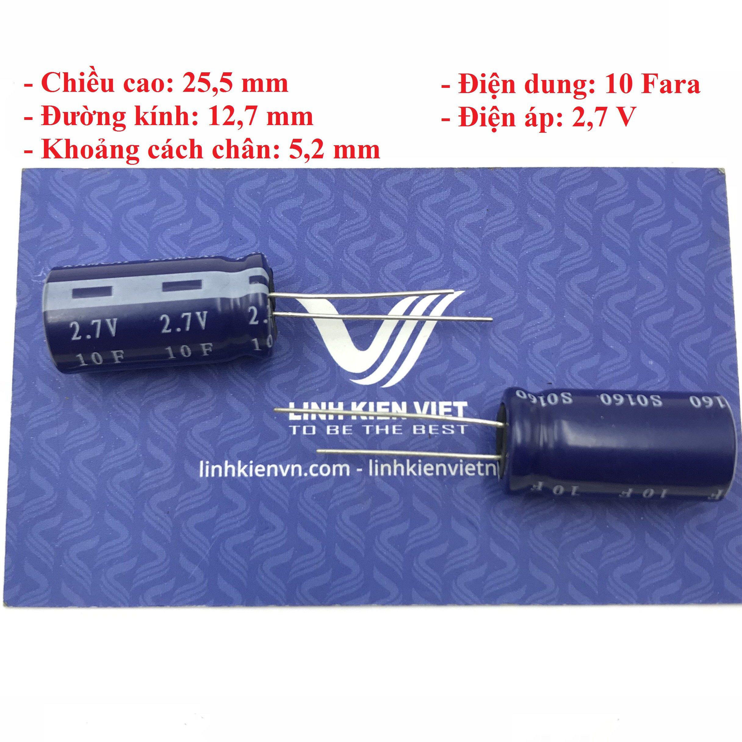 Siêu tụ điện 10F 2.7V - X4H7