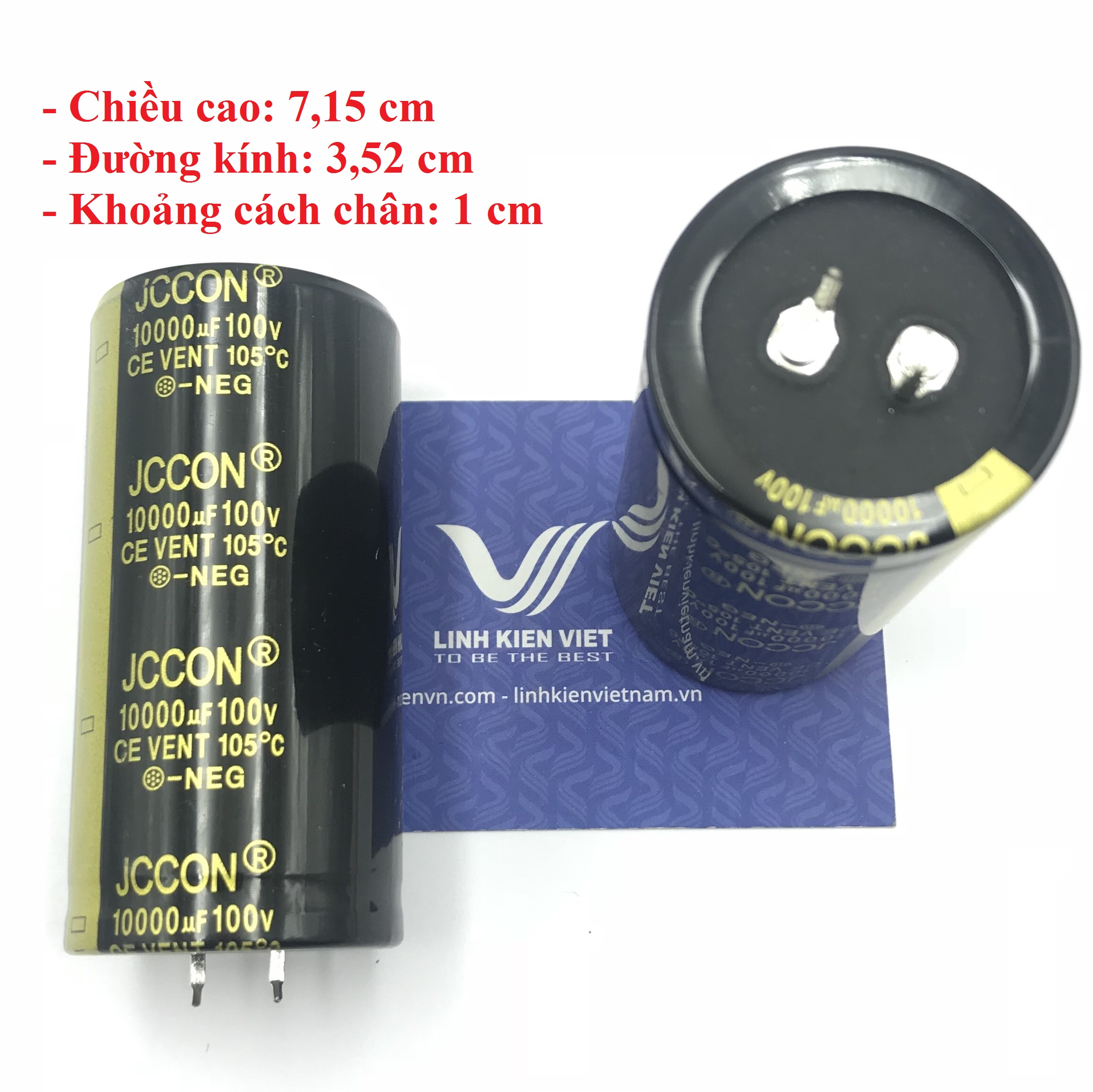 Tụ Hóa JCCON 10000uF 100V loại tốt - X4H18