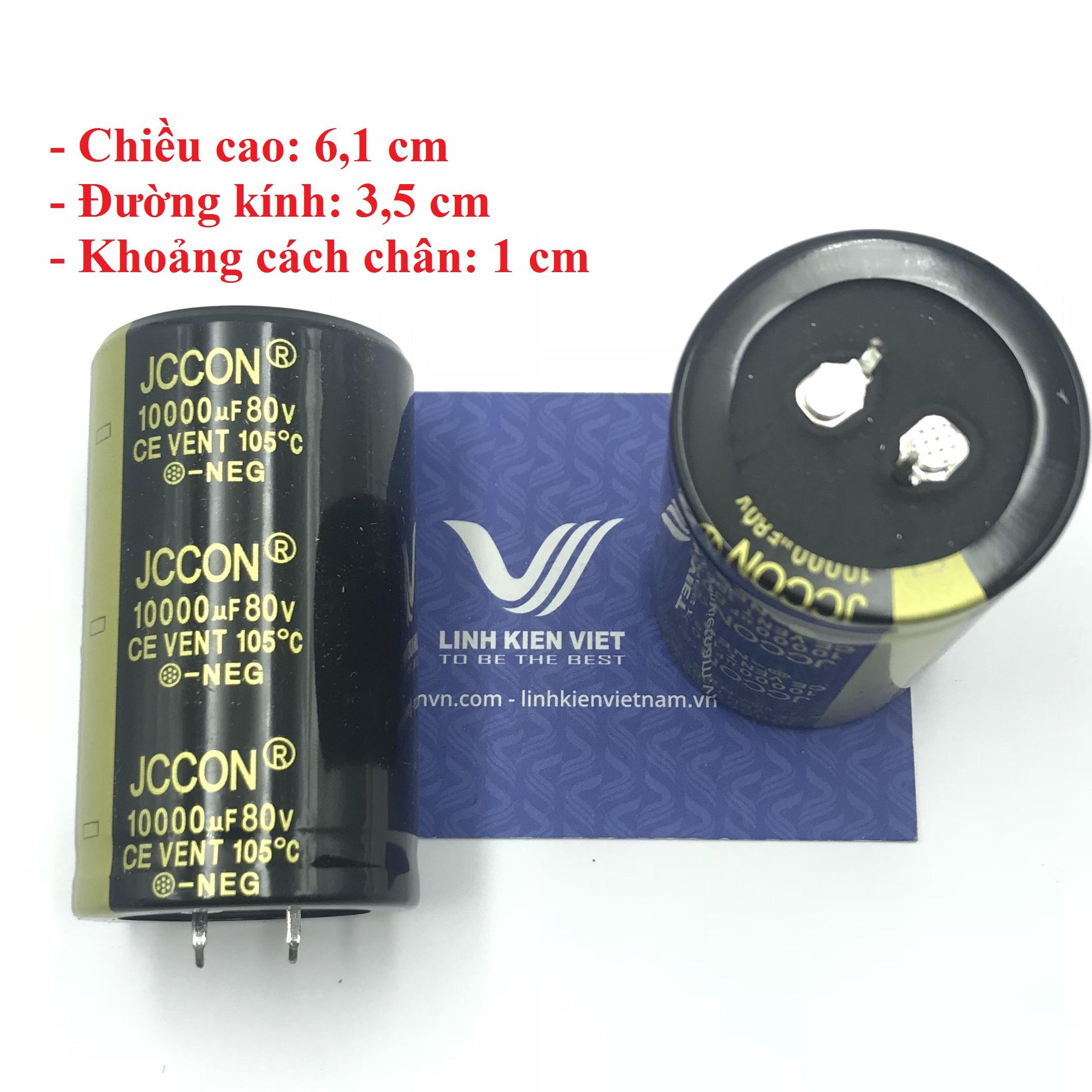 Tụ Hóa JCCON 10000uF 80V loại tốt - X2H10