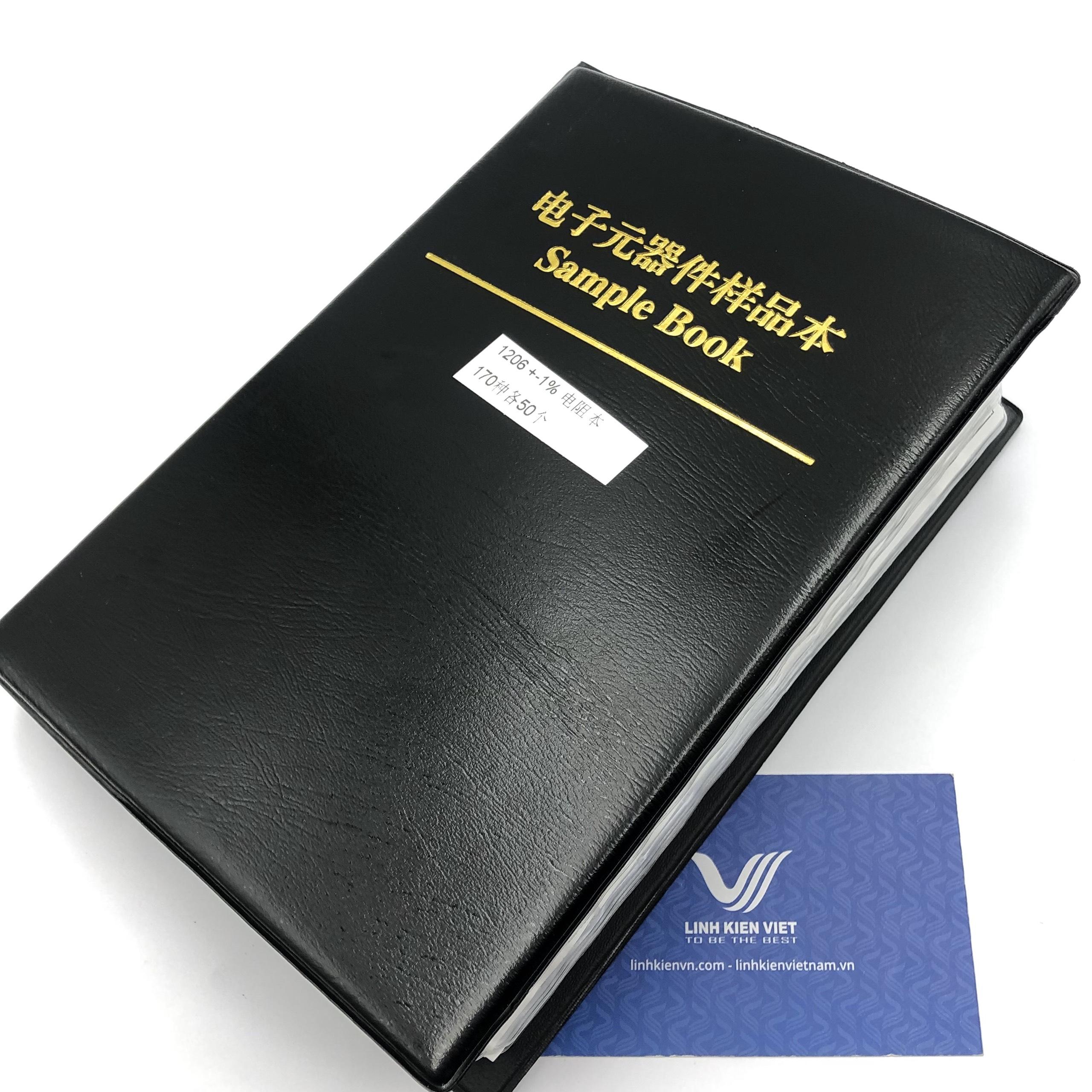 Sổ (Sách) Kẹp Điện Trở Dán 1206 ±1% giá trị đủ từ 0R-10M