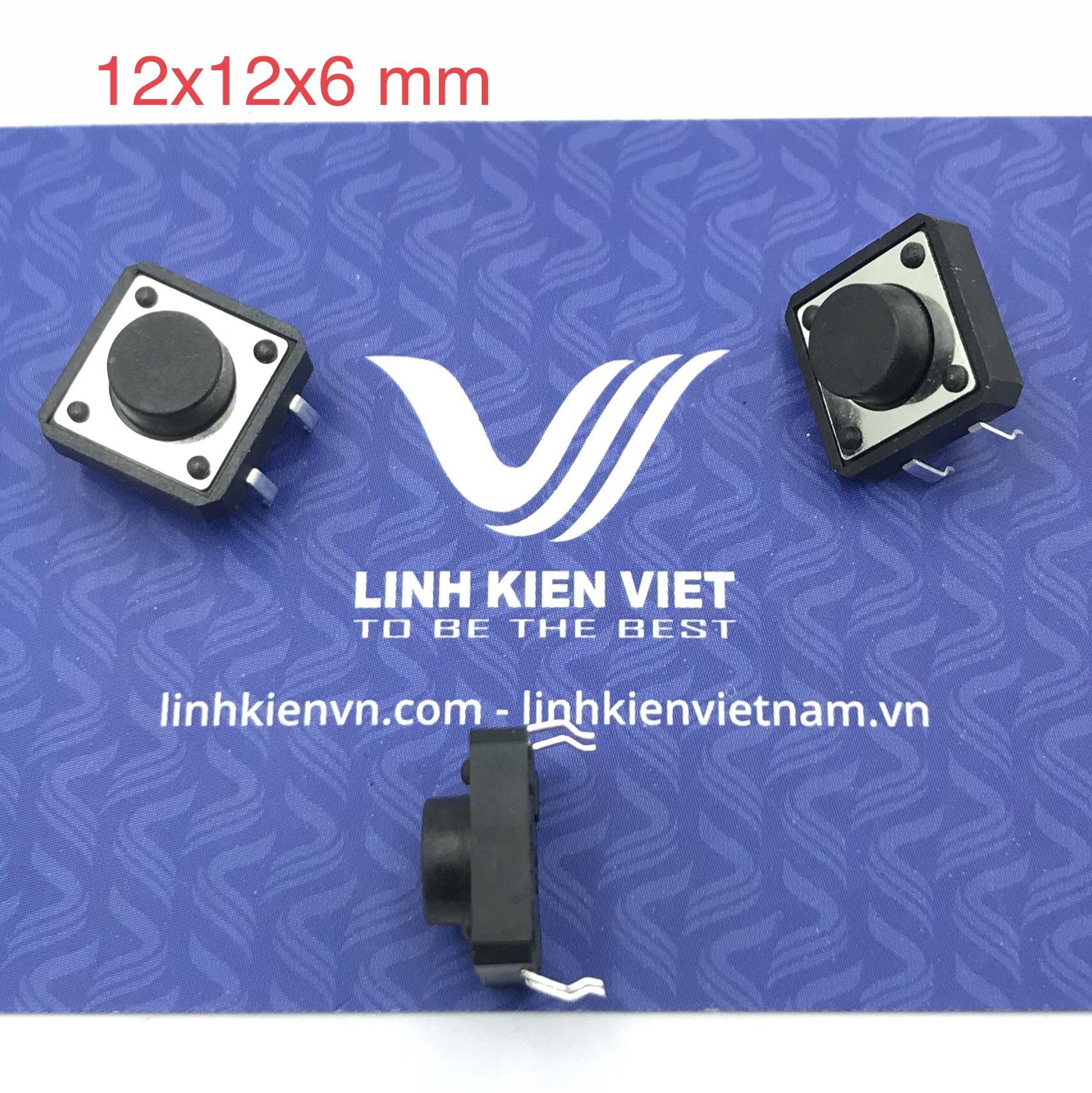 Nút nhấn 4 chân 12x12x6 mm cắm - K2H24