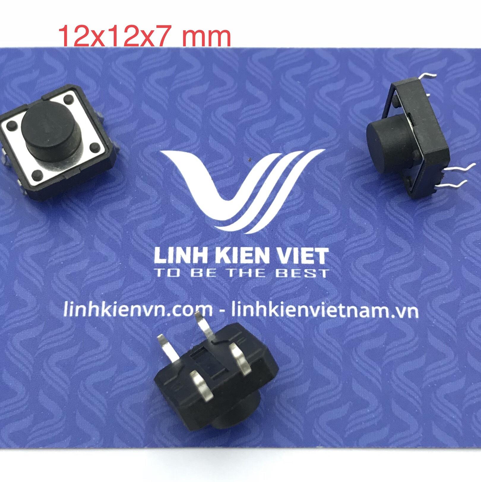 Nút nhấn 4 chân 12x12x7 mm cắm - K2H21
