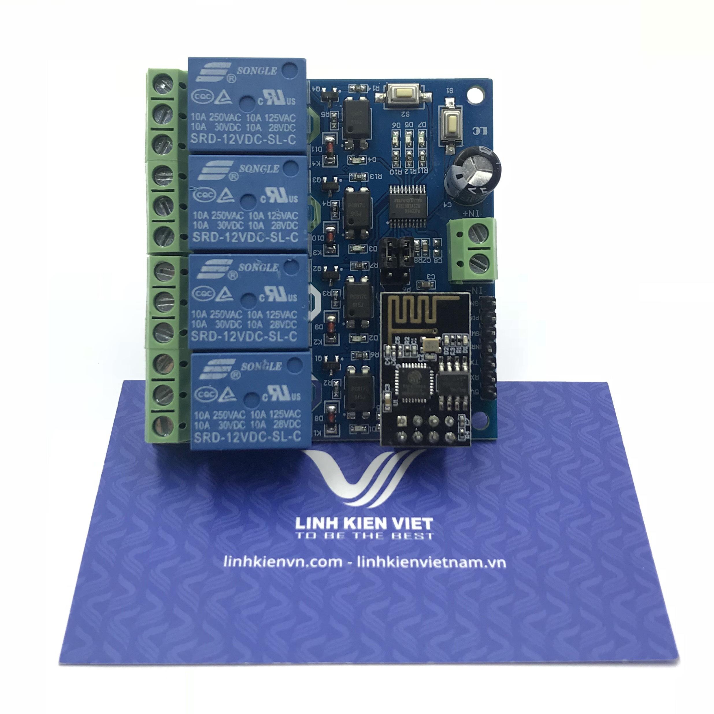 Module wifi ESP8266 4 kênh 12VDC - S1H24