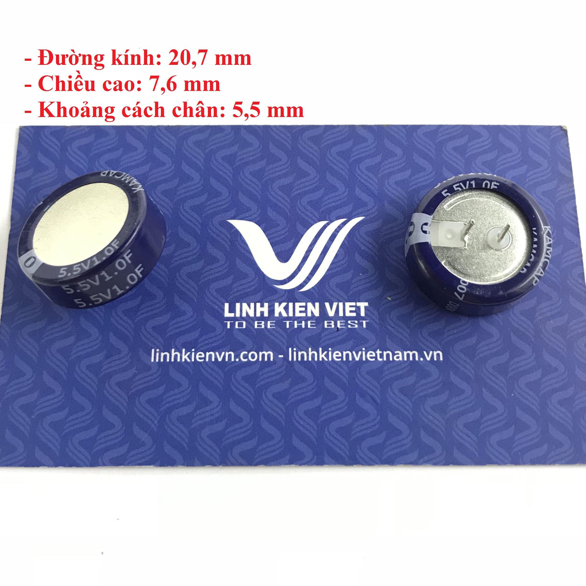 Siêu tụ điện 1F 5.5V dạng nằm - X4H9