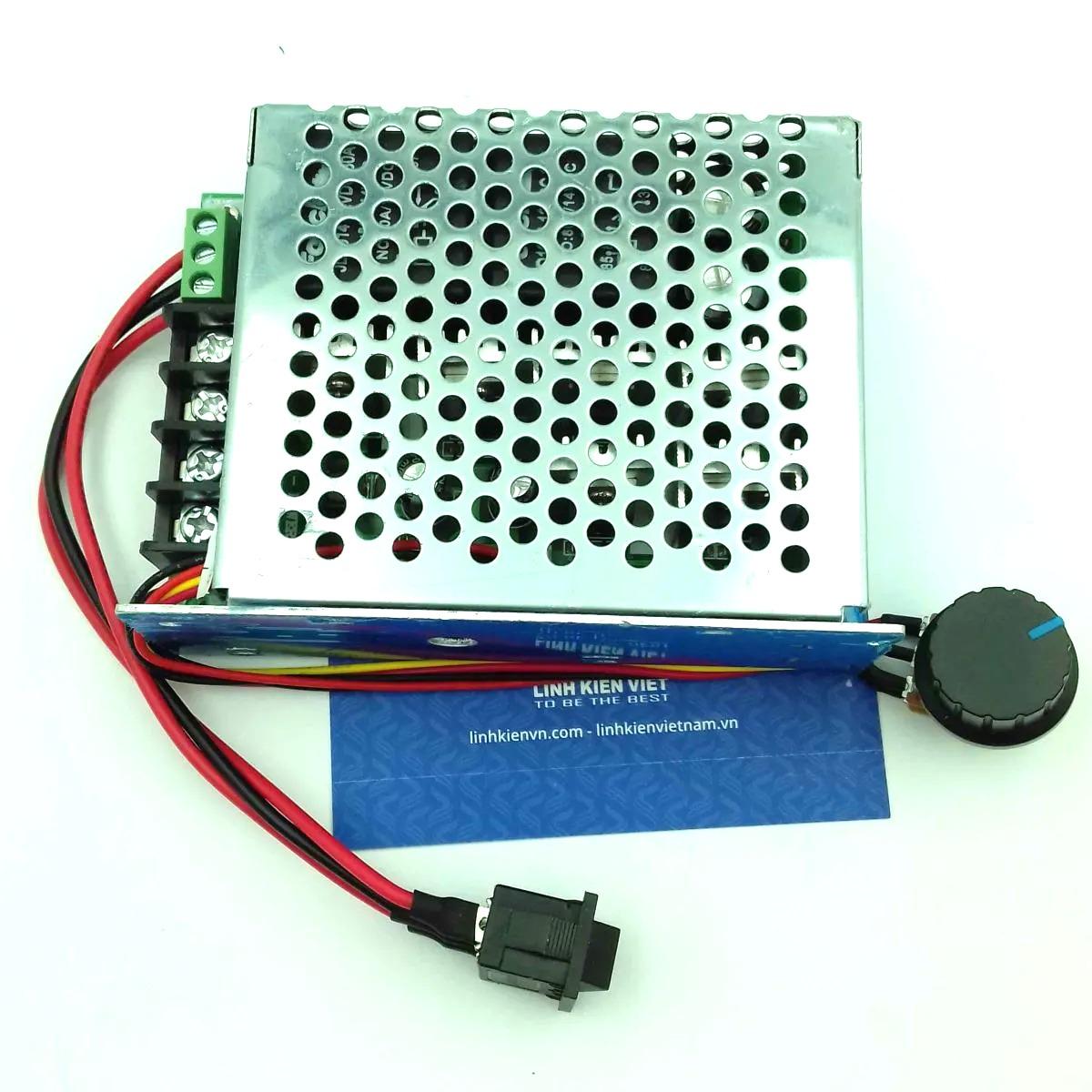 Bộ điều khiển tốc độ động cơ pwm có đảo chiều 40A 12-48V DC-K1H7