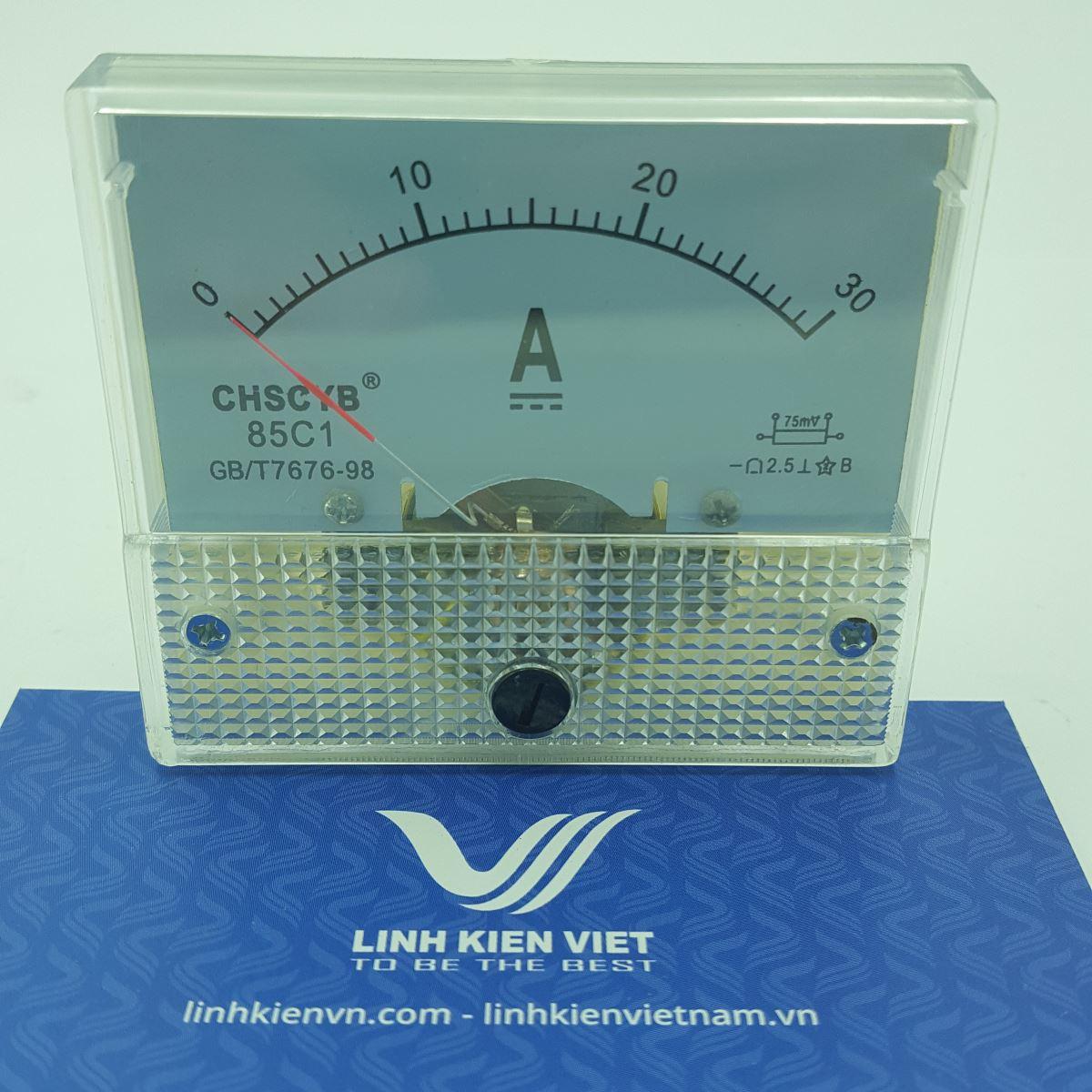 Đồng hồ đo dòng điện DC 85C1 30A / Ampe kế 30A - G2H8