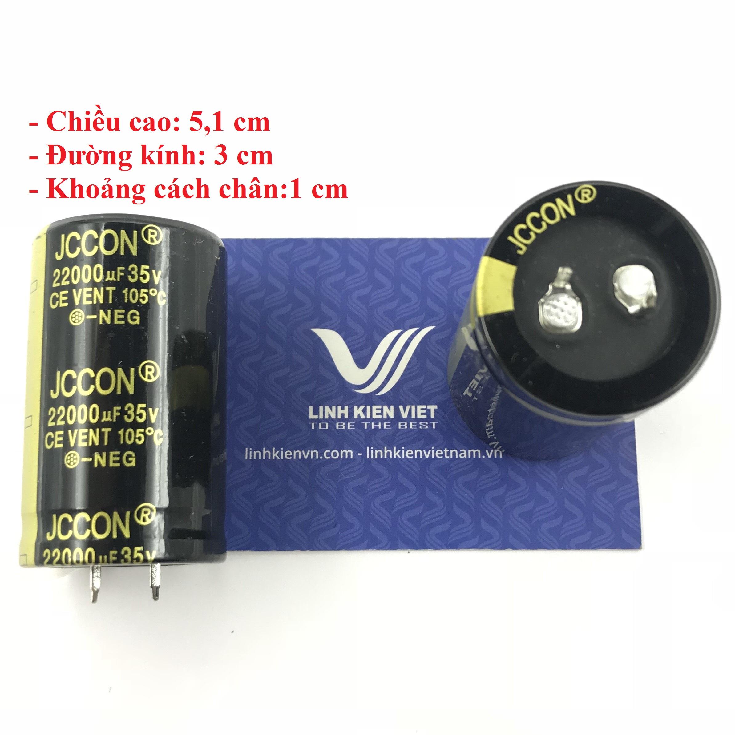Tụ Hóa JCCON 22000uF 35V loại tốt - A8H5