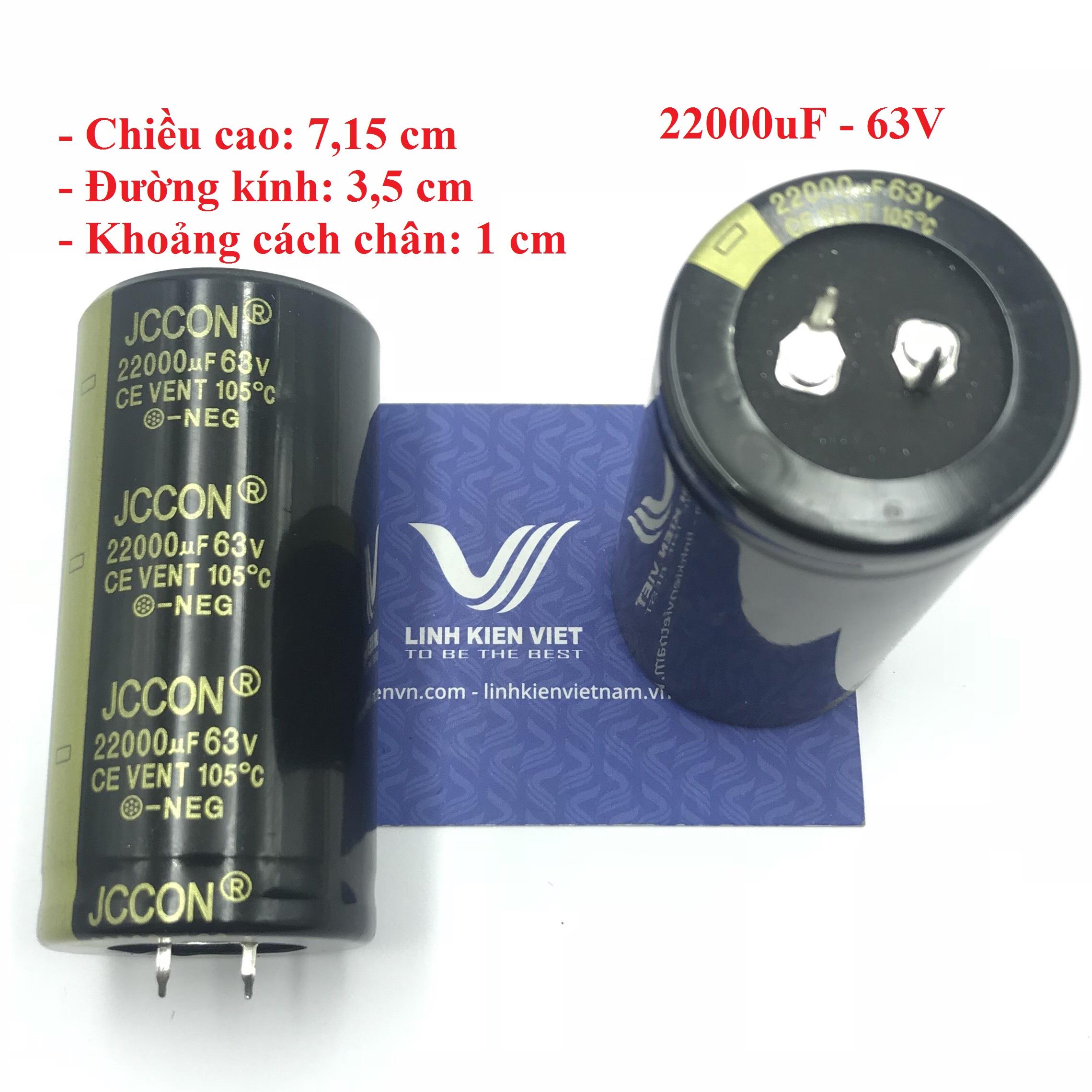 Tụ Hóa JCCON 22000uF 63V loại tốt - X4H19