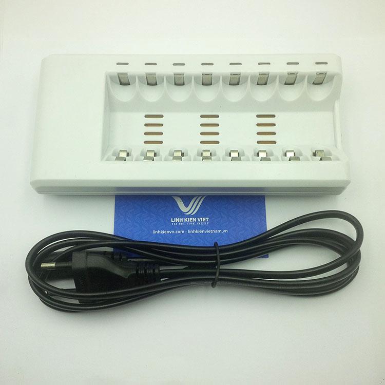Bộ sạc pin AA 8 pin 1.5V loại tốt - Kho