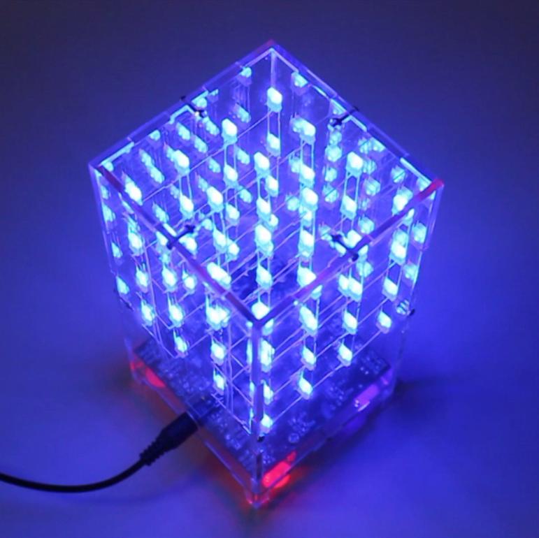 Led cube 3D 4x4x4 nhiều hiệu ứng