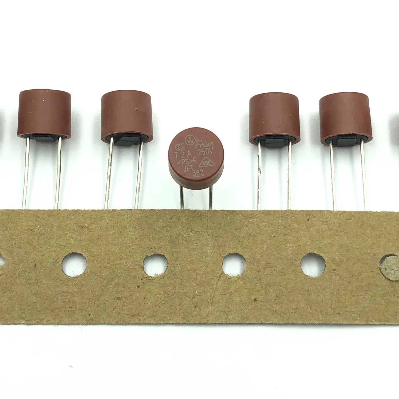 Cầu chì trụ tròn 8x8 2A 250V T2A - I8H23