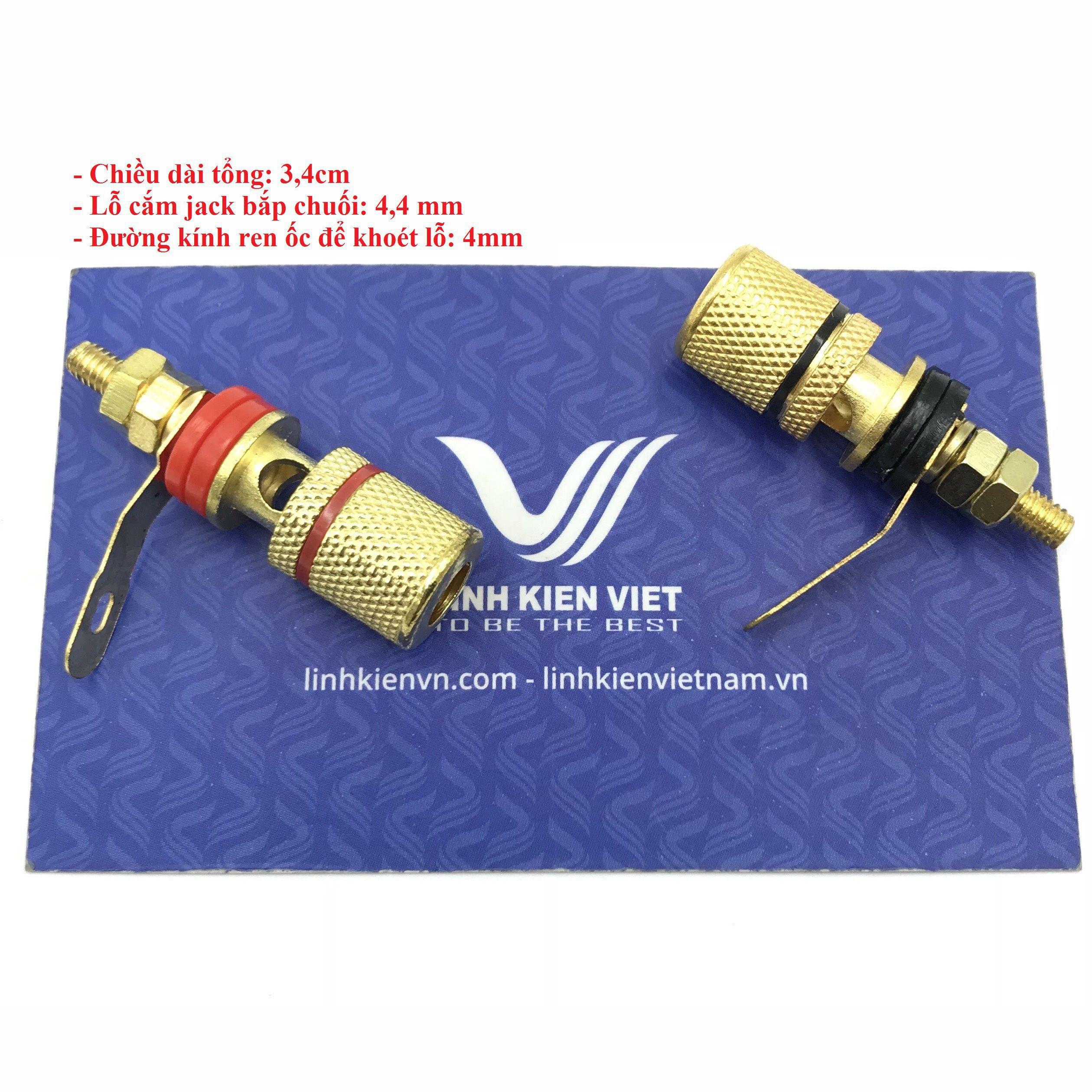 Cọc Loa chất lượng cao (mạ vàng) / Jack Thí nghiệm dài 3.4 cm (1 cái) - D8H18