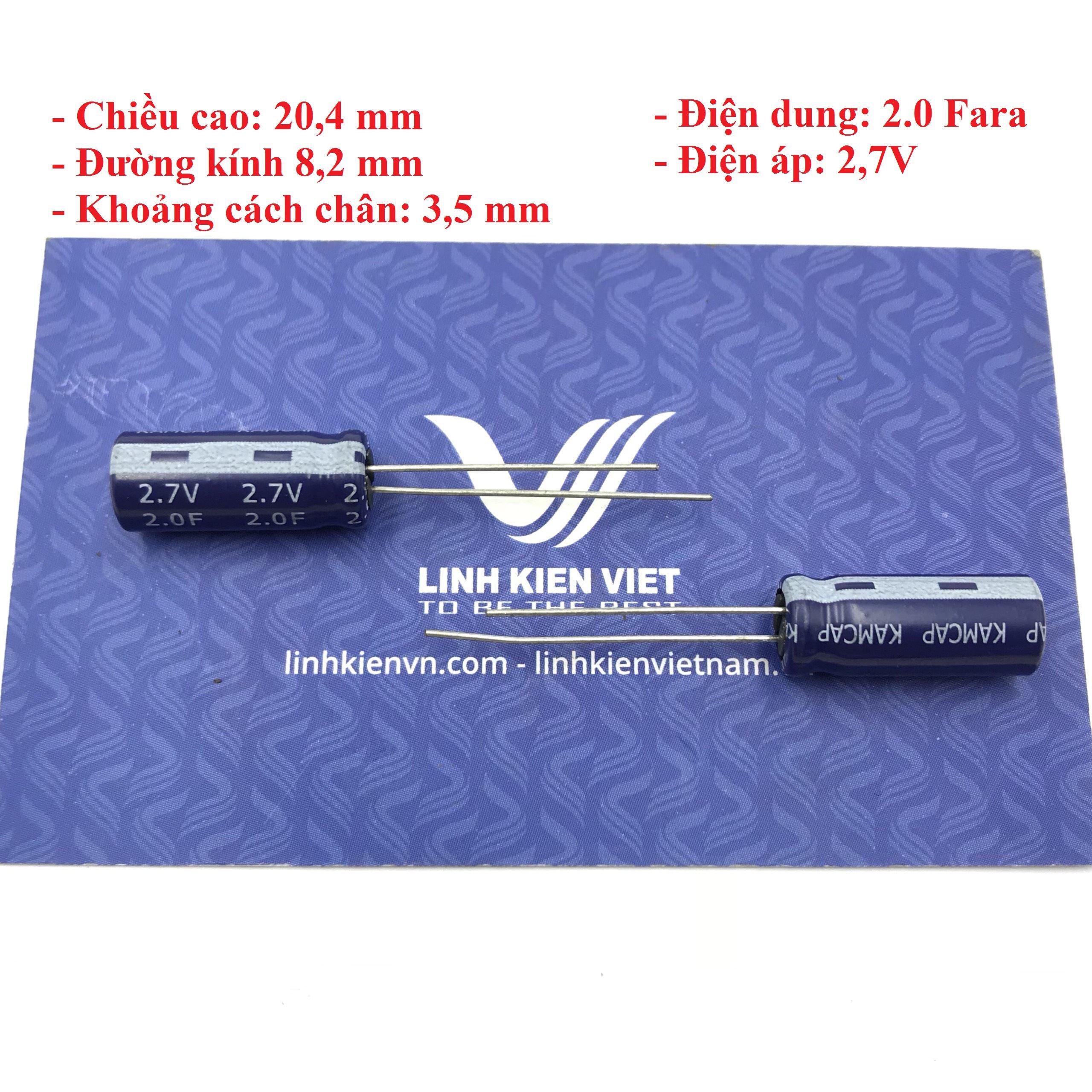 Siêu tụ điện 2F 2.7V - X4H8