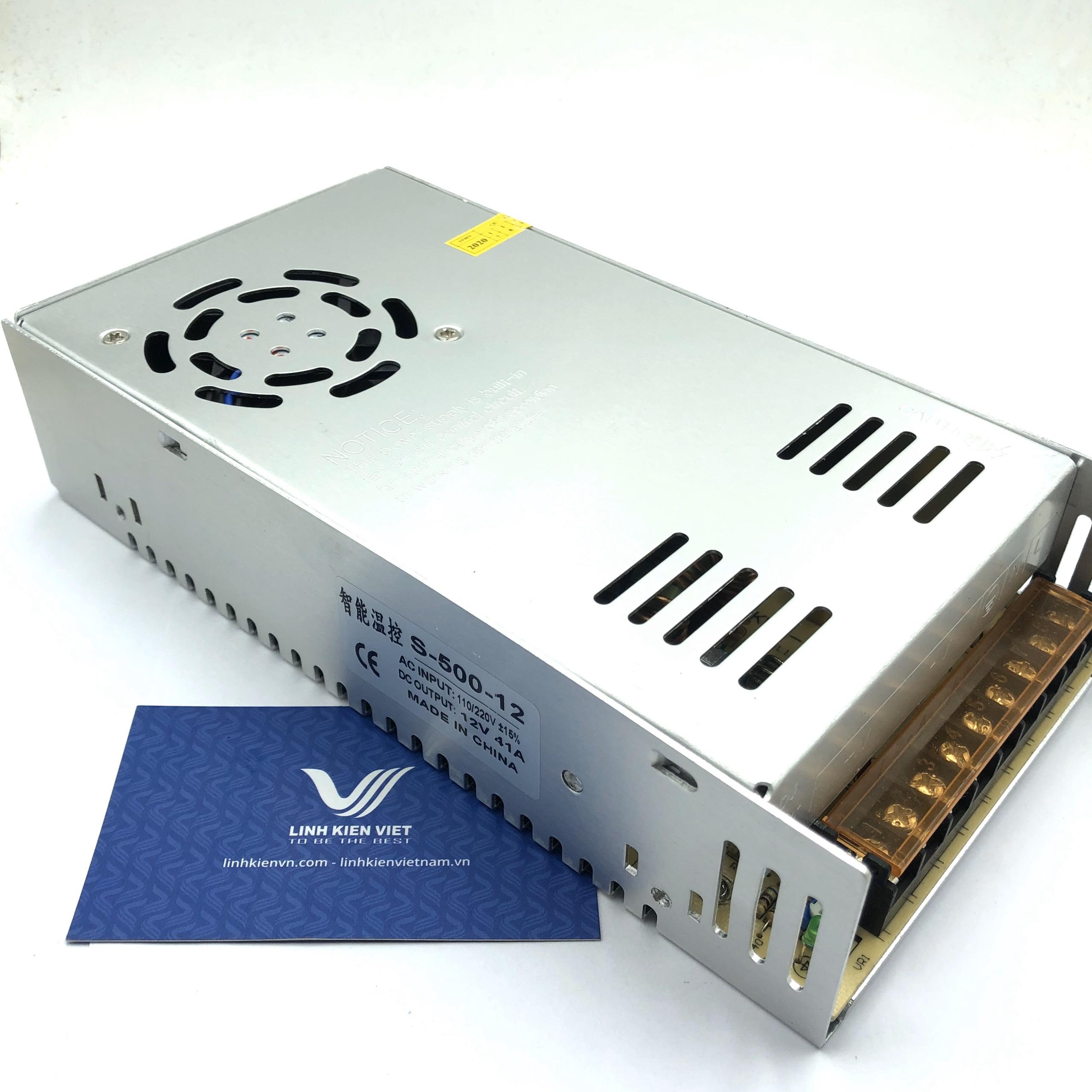 Nguồn tổ ong S-500-12 12V 41A (40A)