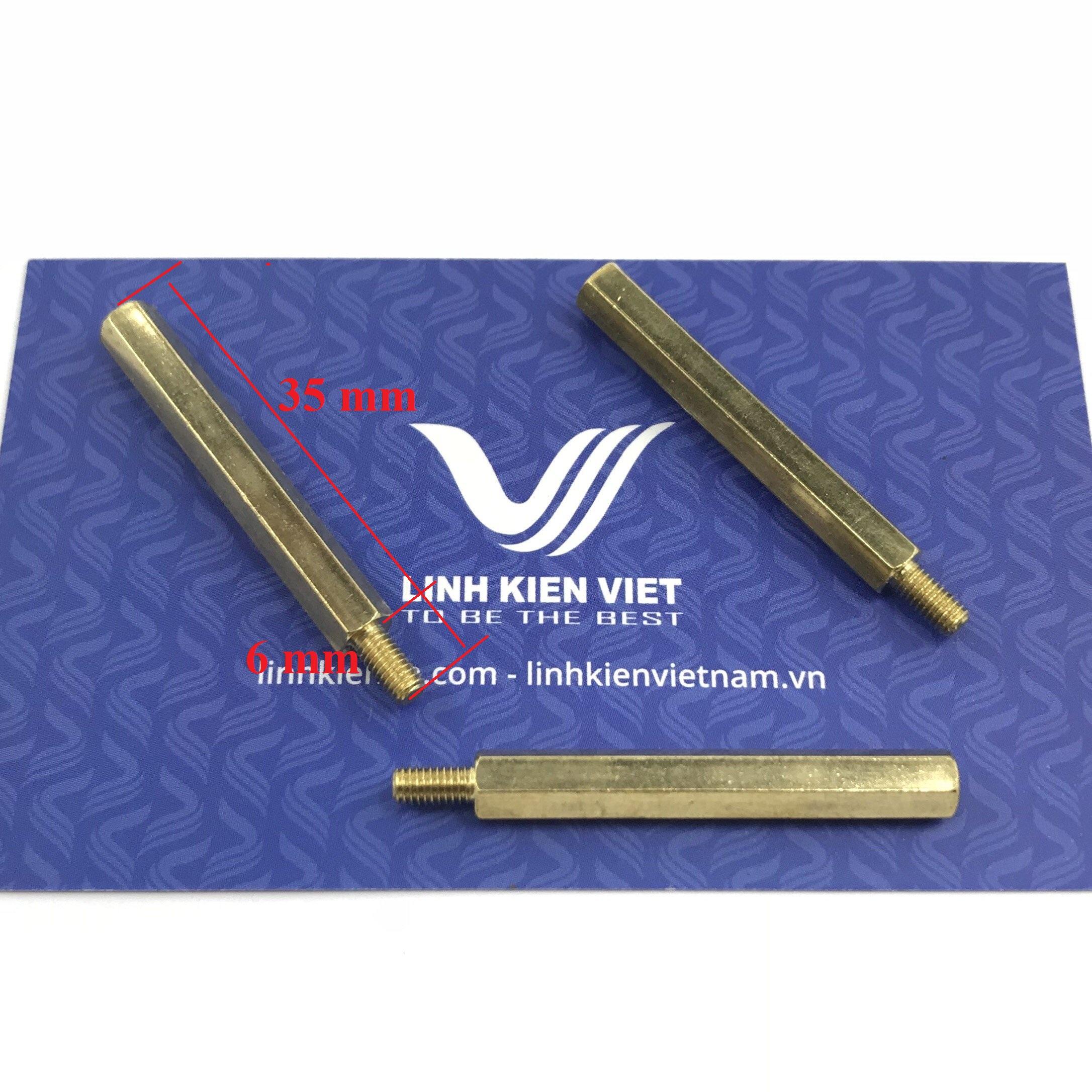 Cọc đồng M3 35+6mm đực-cái - J1H24
