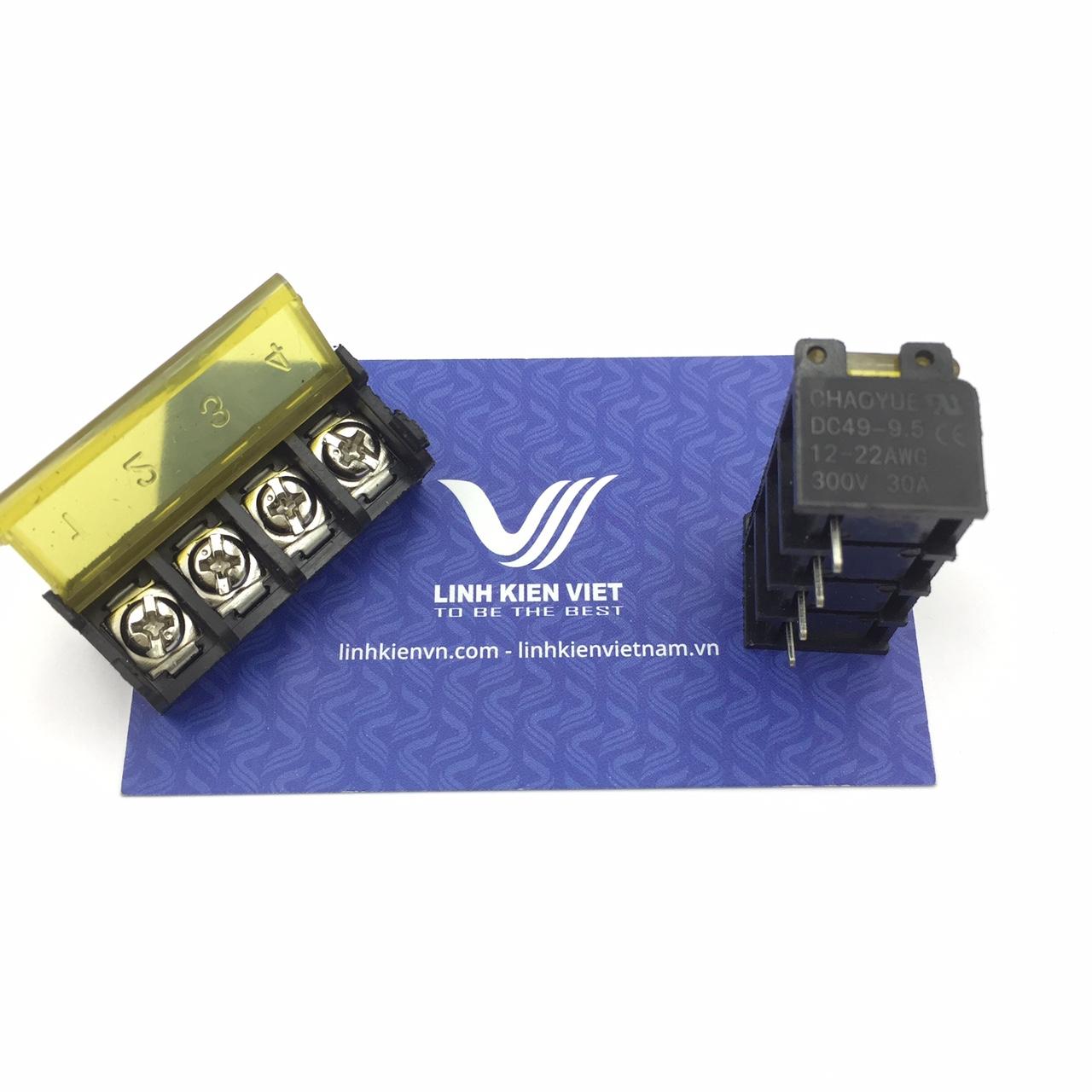 Cầu đấu terminal có nắp đậy HB9500-4P /DC49 - 9.5mm 4P - s1H10