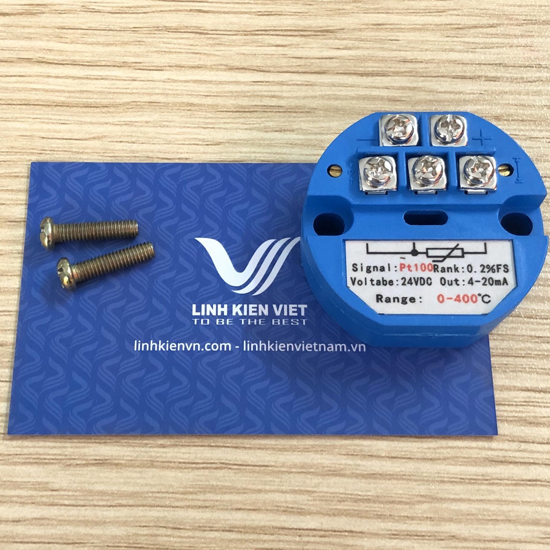 Bộ chuyển đổi nhiệt độ PT100 4-20mA / 0-400 độ - J2H16