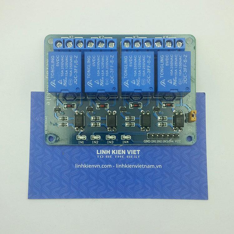 Module Relay 4 Kênh 5V-220V/10A - B1H16
