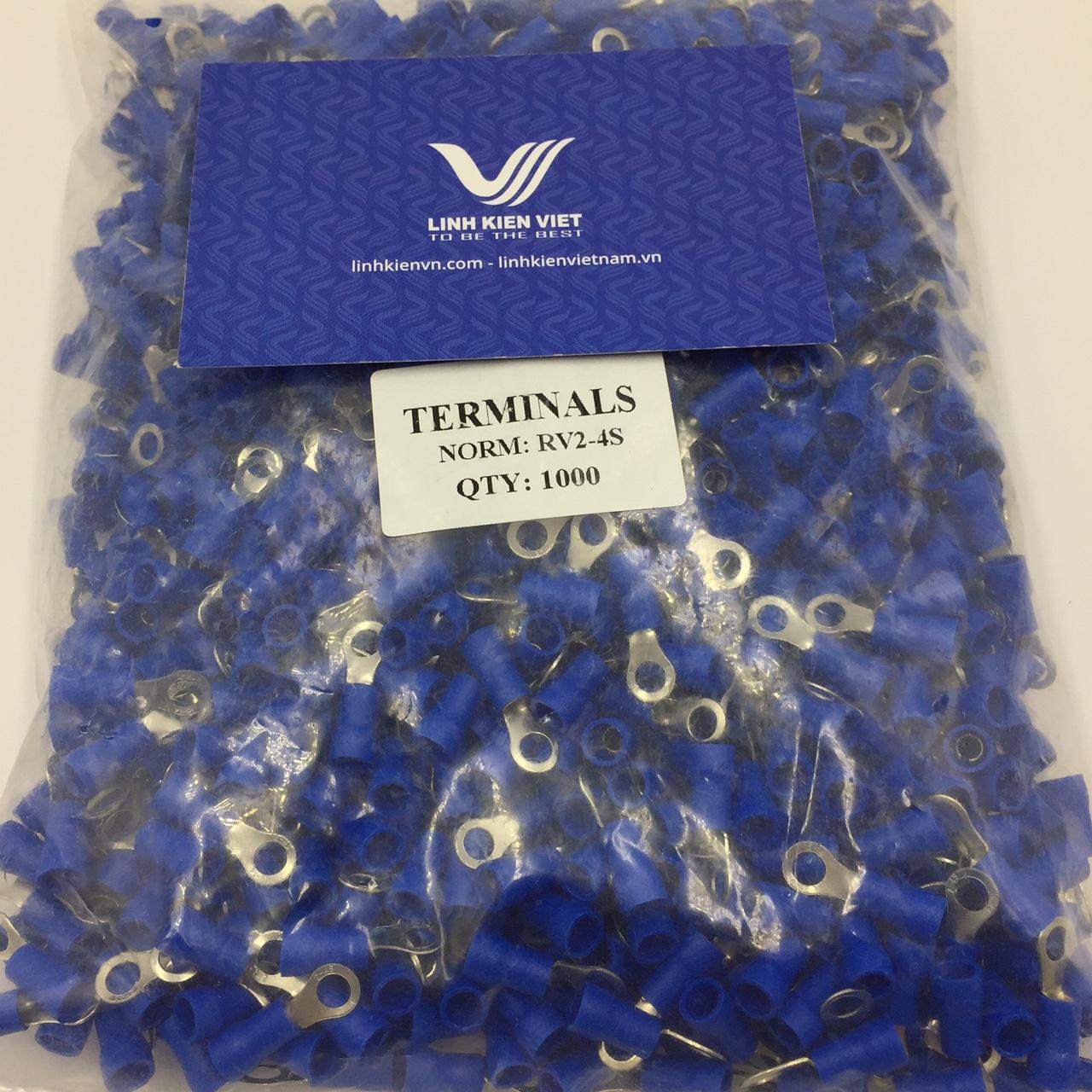 Đầu CỐT tròn RV2-4S Màu xanh - túi 1000 cái - S2H9