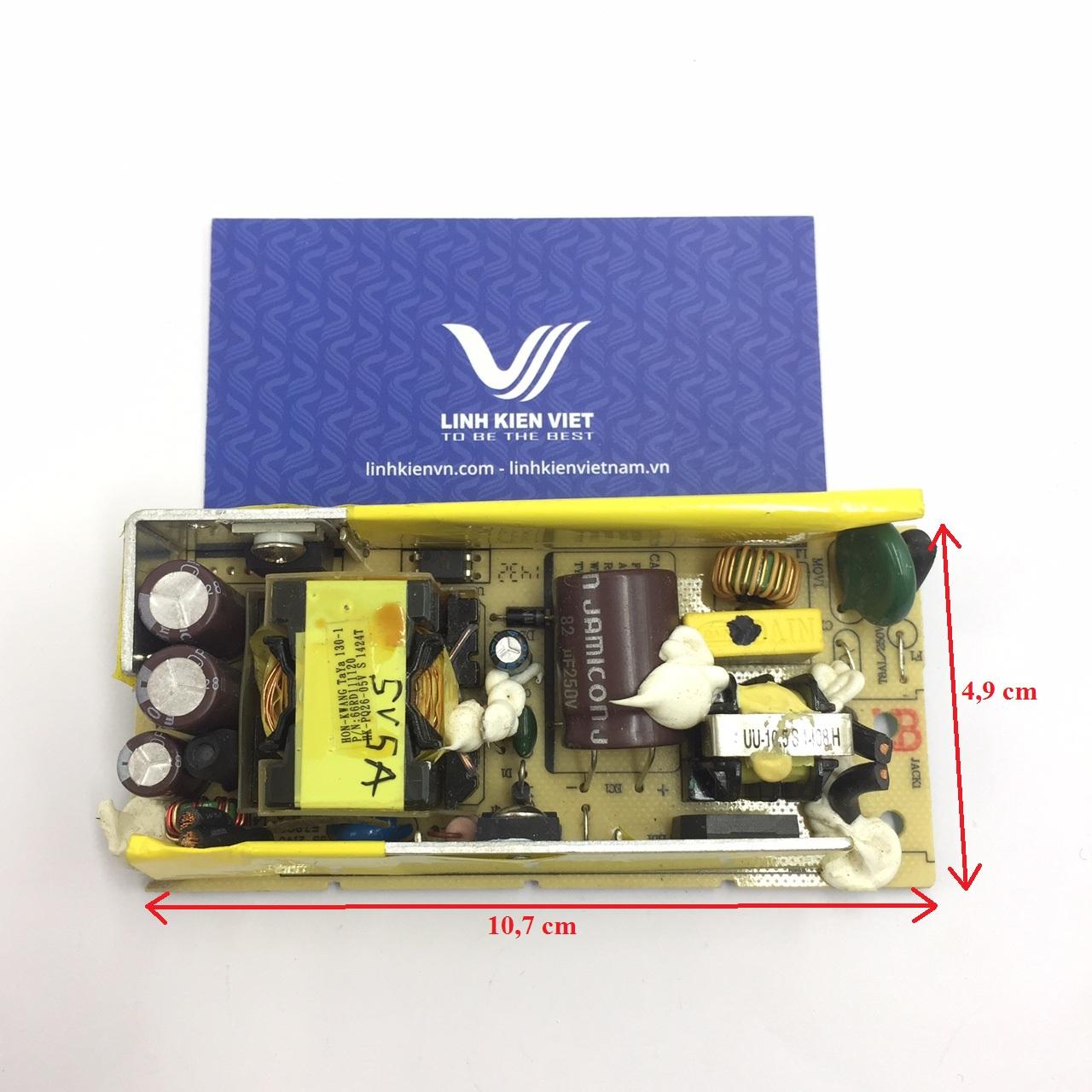 Nguồn adapter 5V 5A không vỏ (hàng tháo máy)