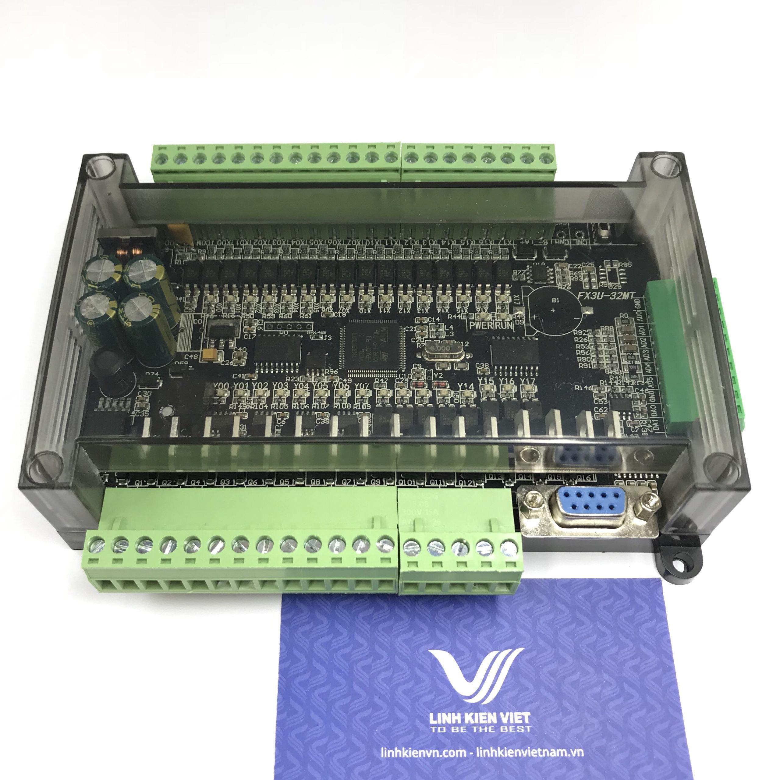 BOARD PLC FX3U - 32MT có vỏ tích hợp 6AD 2DA