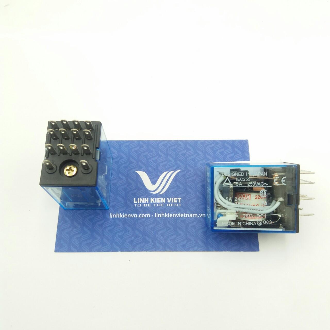 Relay trung gian MY4NJ - 220VAC / Relay trung gian 4 cặp tiếp điểm 220V - J5H6(KB4H3)