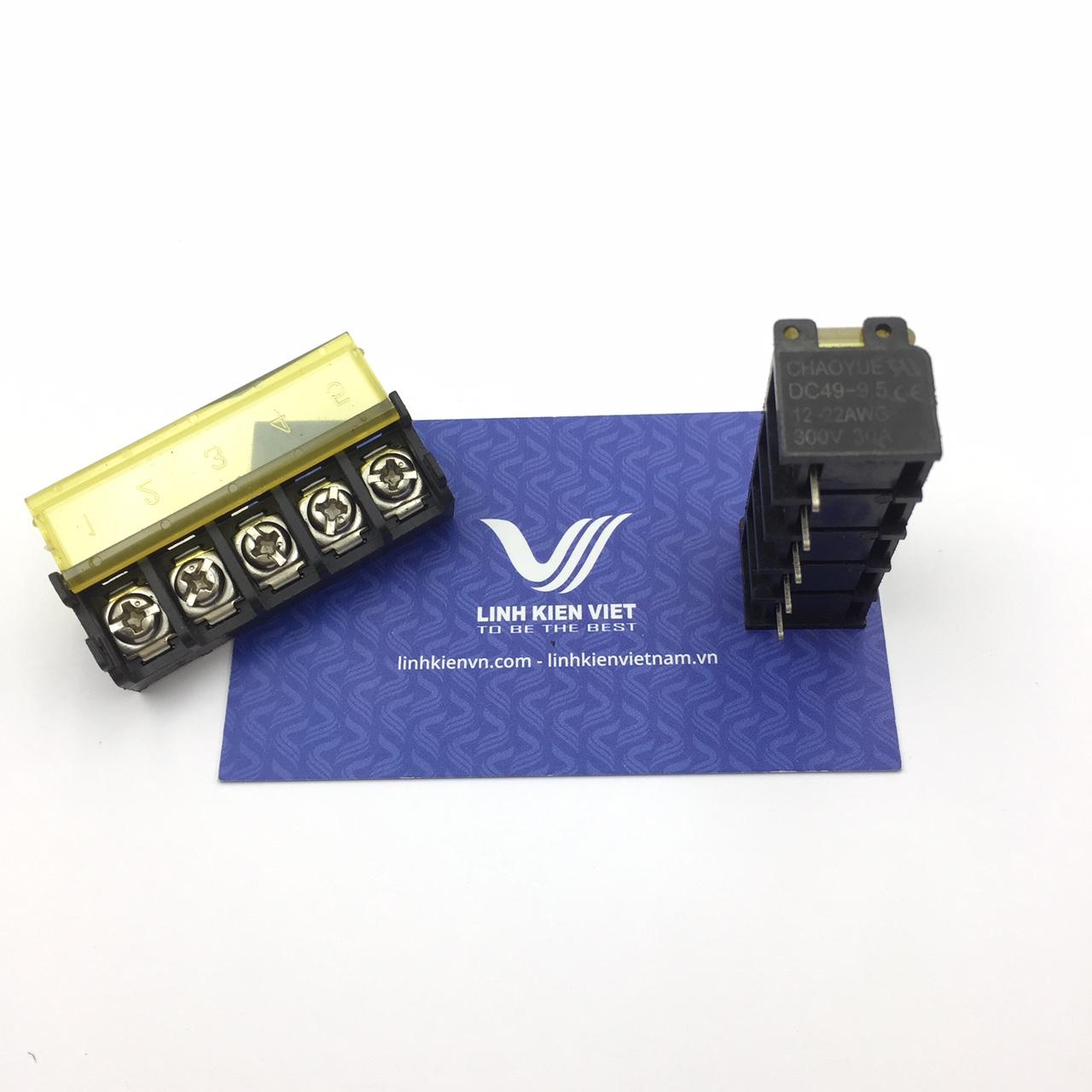 Cầu đấu terminal có nắp đậy HB9500-5P /DC49 - 9.5mm 5P - s1H11